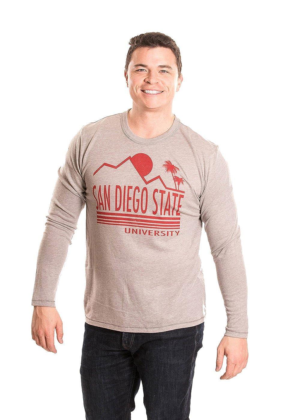 Medium Alma Mater NCAA Mens Long Sleeve T-Shirt San Diego State Aztecs