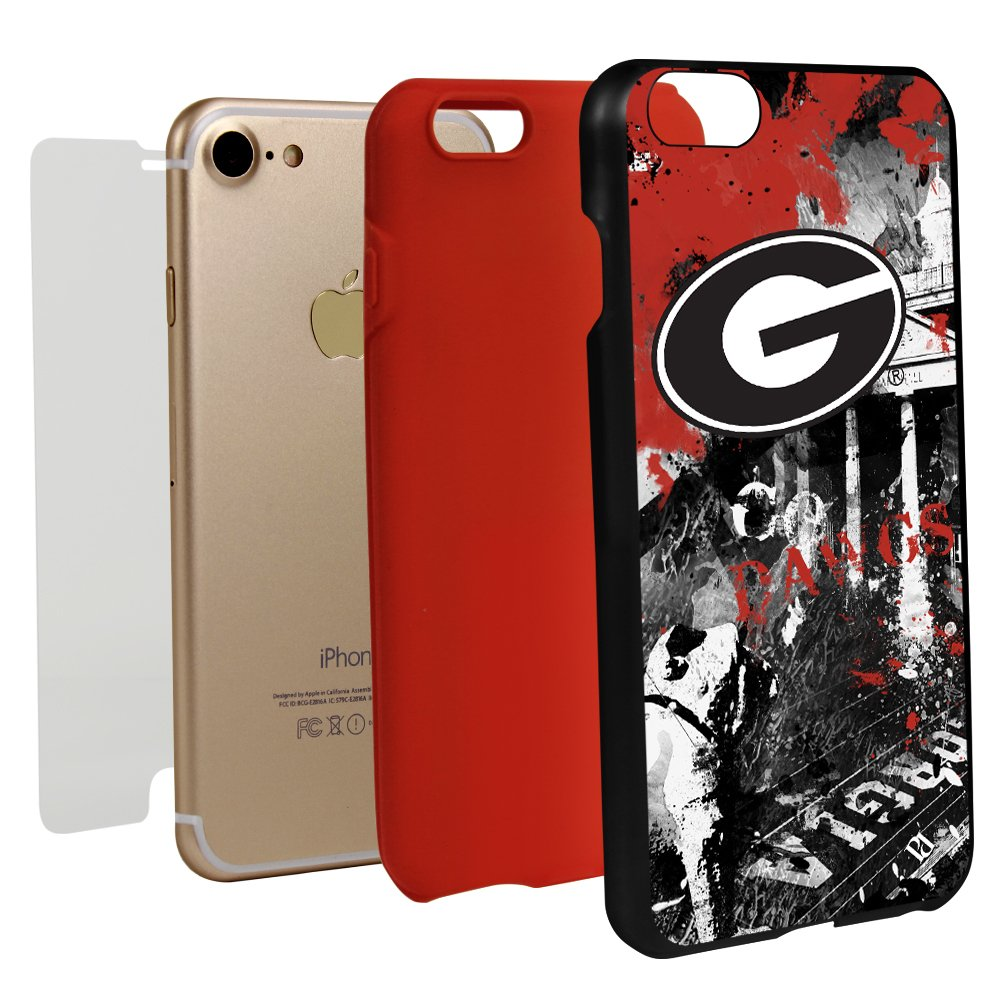 Guard Dog Georgia Bulldogs Paulson Designs Spirit Case for iPhone 7/8 with Guard Glass Screen Protector by Guard Dog