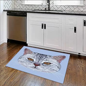 Décoration intérieure Tapis Cat Portrait Kitty Zoom Faceeyes ...