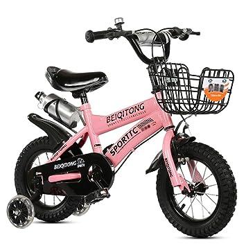 LI HAO SHOP Niños Bicicleta Cochecito de bebé niños Bicicleta de montaña (Flash Rueda + versión Canasta de Hierro): Amazon.es: Deportes y aire libre