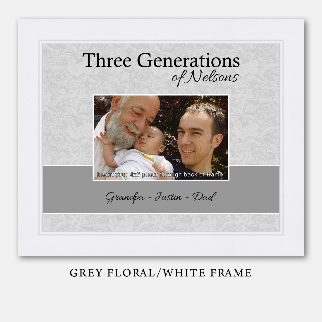 Amazon.com: Personalized Three Generations Picture Frame: Handmade