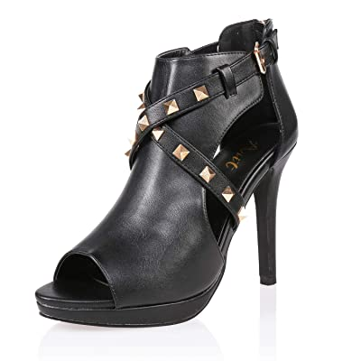 AIIT Women's Stiletto High Heel Sandal Pump Shoe | Heeled Sandals
