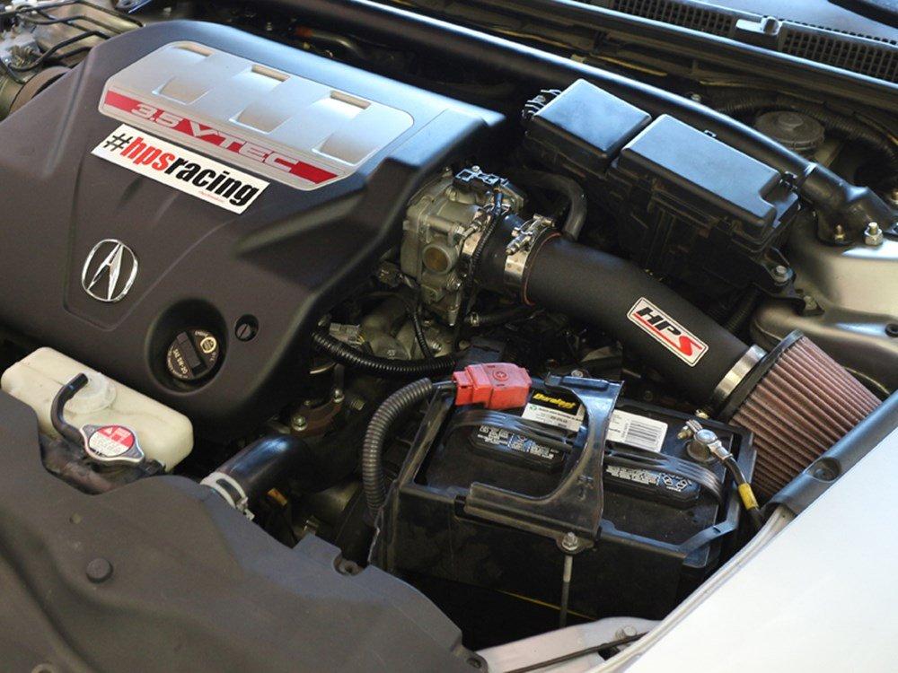 HPS 27-275BL Blue Shortram Air Intake Kit Cool Non-Carb Compliant