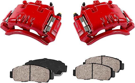 Rear Red Powder Coated Brake Calipers /& Ceramic Pads For Dodge RAM 2500 3500