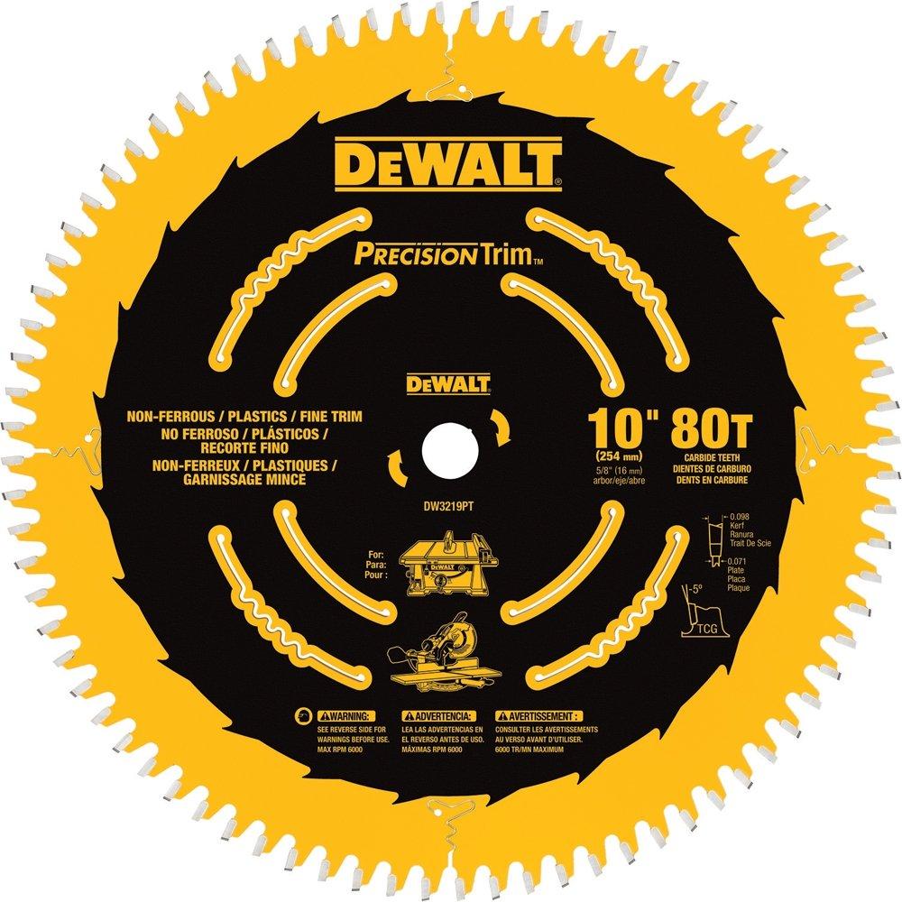 DEWALT DW3219PT 10-Inch 80T Fine Crosscutting Saw Blade by DEWALT