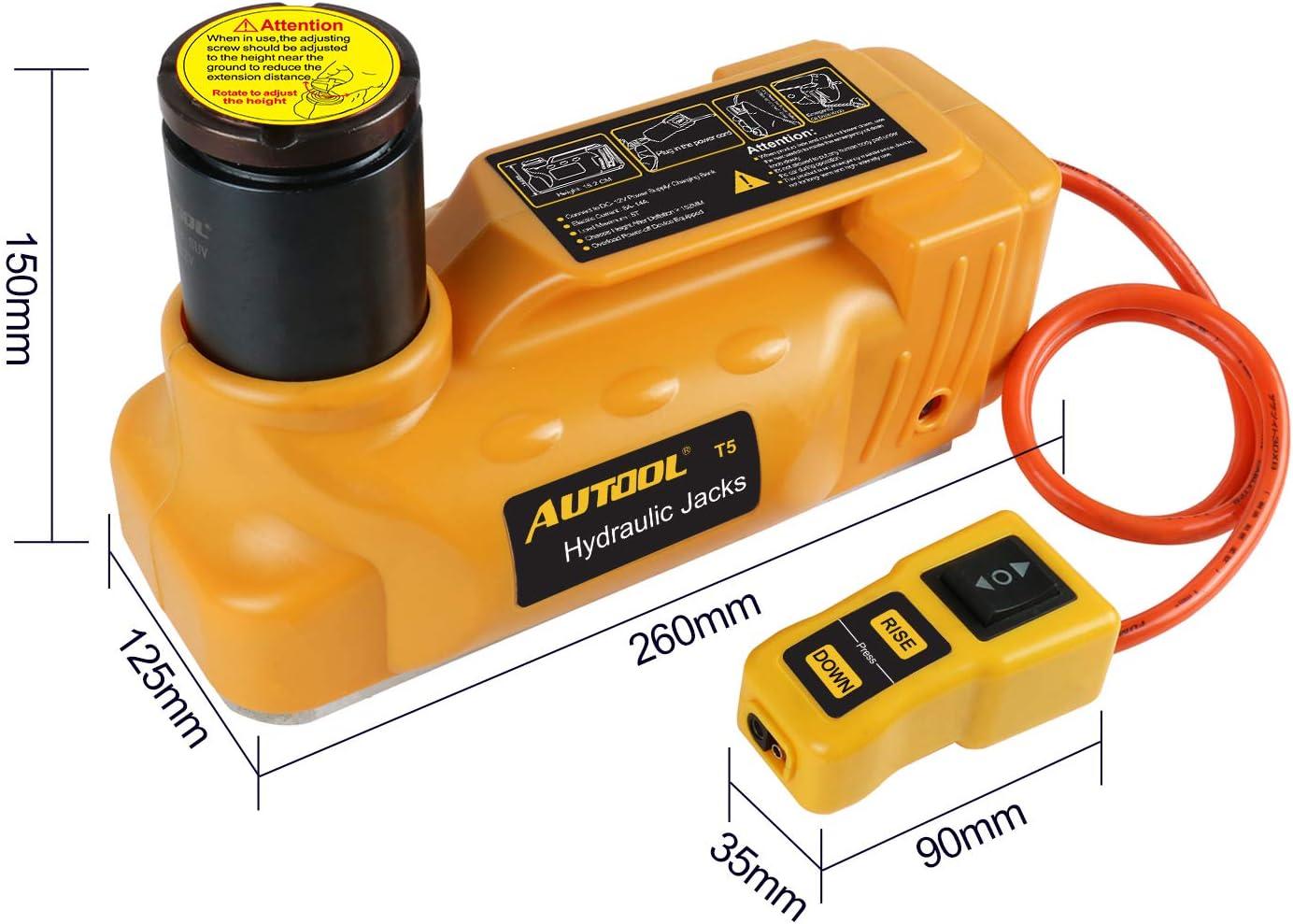 con Chiave a impulso per Riparazione Pneumatici Auto Set di cric Idraulico Elettrico da Pavimento BELEY 12 V DC per Auto Kit cric Universale per Veicoli