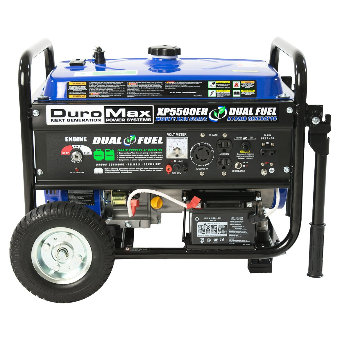 DuroMax XP5500EH Gas/Propane Powered Dual Fuel Portable Generator- – Refurbished