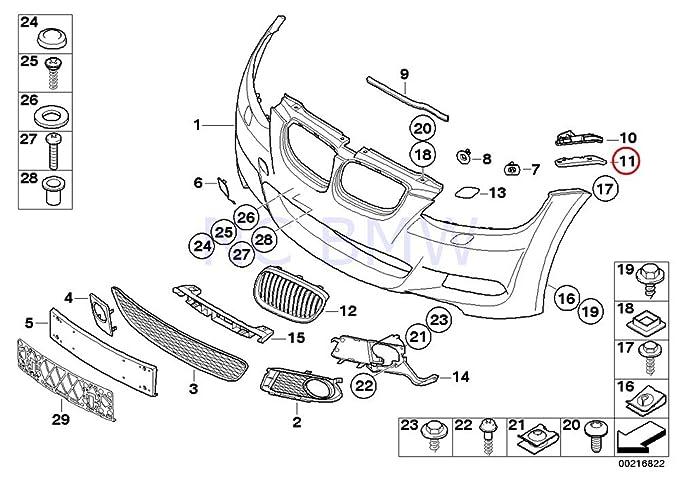 e46 bumper diagram