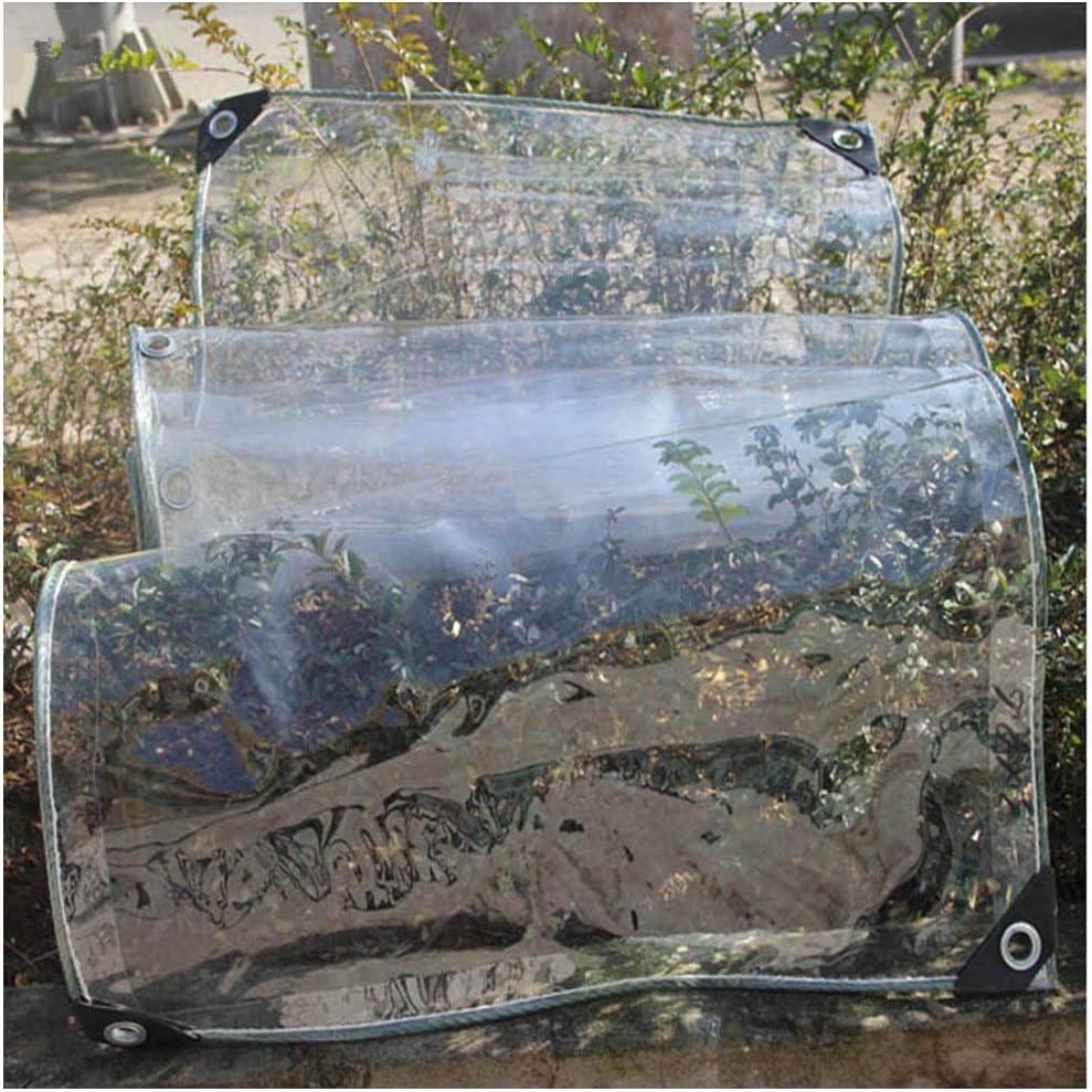 Size : 1x4m Square Meter Rainproof Cloth Sunscreen Plastic Cloth Canopy Waterproof Balcony Windproof Moisture-Proof Anti Corrosion 500g GRZP Thickened Pvc Transparent Tarpaulin