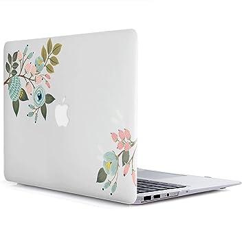 Funda MacBook Pro de 13 Pulgadas A1278 - L2W 2 en 1 (versión 2012-2008, Pantalla no Retina) Serie de Flores Patrón Funda de Carcasa Dura de plástico ...
