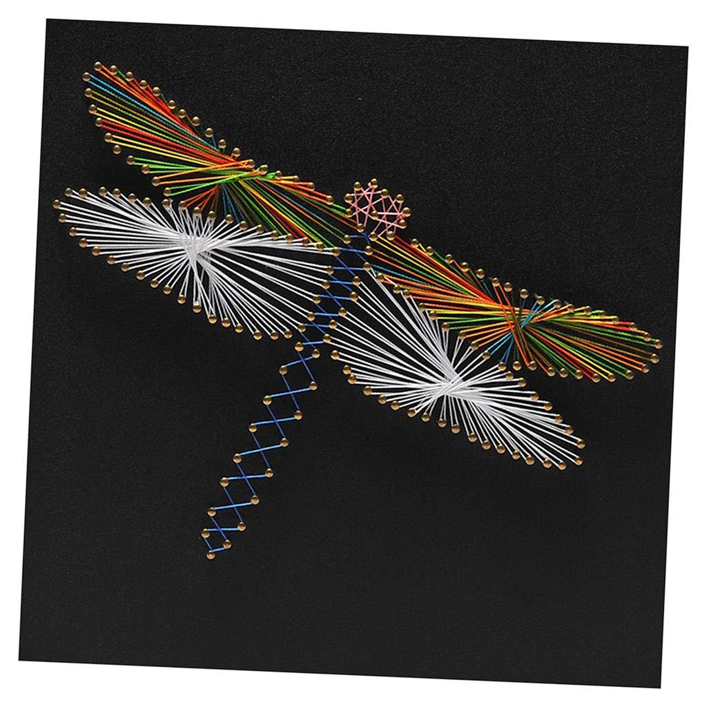SM SunniMix String Art Dragonfly String Art Making Kit DIY Home Ornament for Adults Kids Handmade Crafts