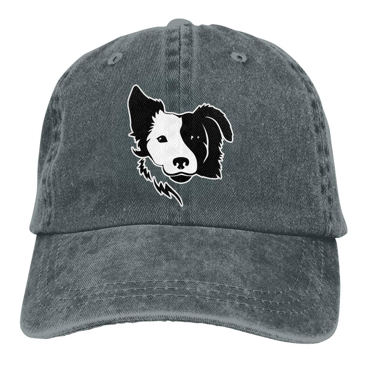 e0bdea9974ffc WAYOULUCK Unisex Adjustable Baseball Cap Border Collie Visor Hat at Amazon  Men s Clothing store