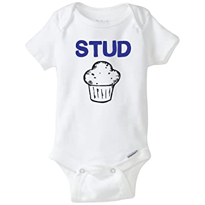 d9c765923 BLAKENREAG Stud Muffin Funny Baby Onesie Baby Boy Girl Clothes ...