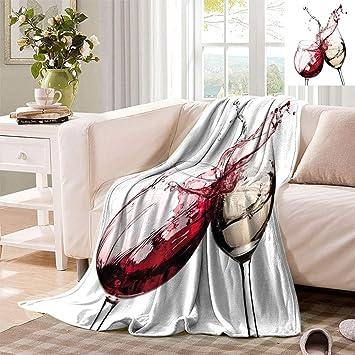 Surprising Amazon Com Datiansun Love Wine Decor Travel Throw Blanket Inzonedesignstudio Interior Chair Design Inzonedesignstudiocom