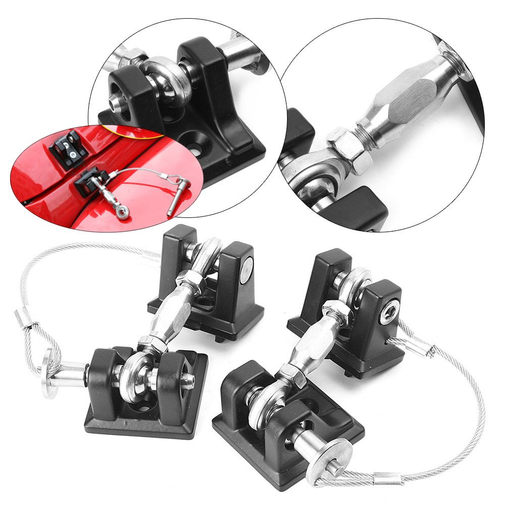 Timmart Hood Catch Lock For 2007-2017 Jeep Wrangler Jk & Unlimited