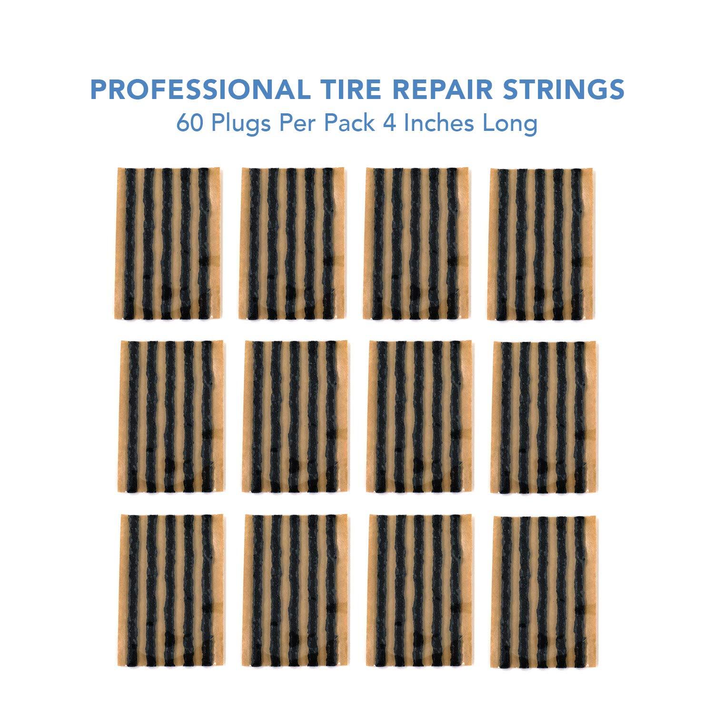Wheelbarrow Automotive Tool Tire Repair Plugs for Tubeless Off-Road Tires Car ATV Bike Mower UTV CK Auto 30pcs Black Tire Repair Strings