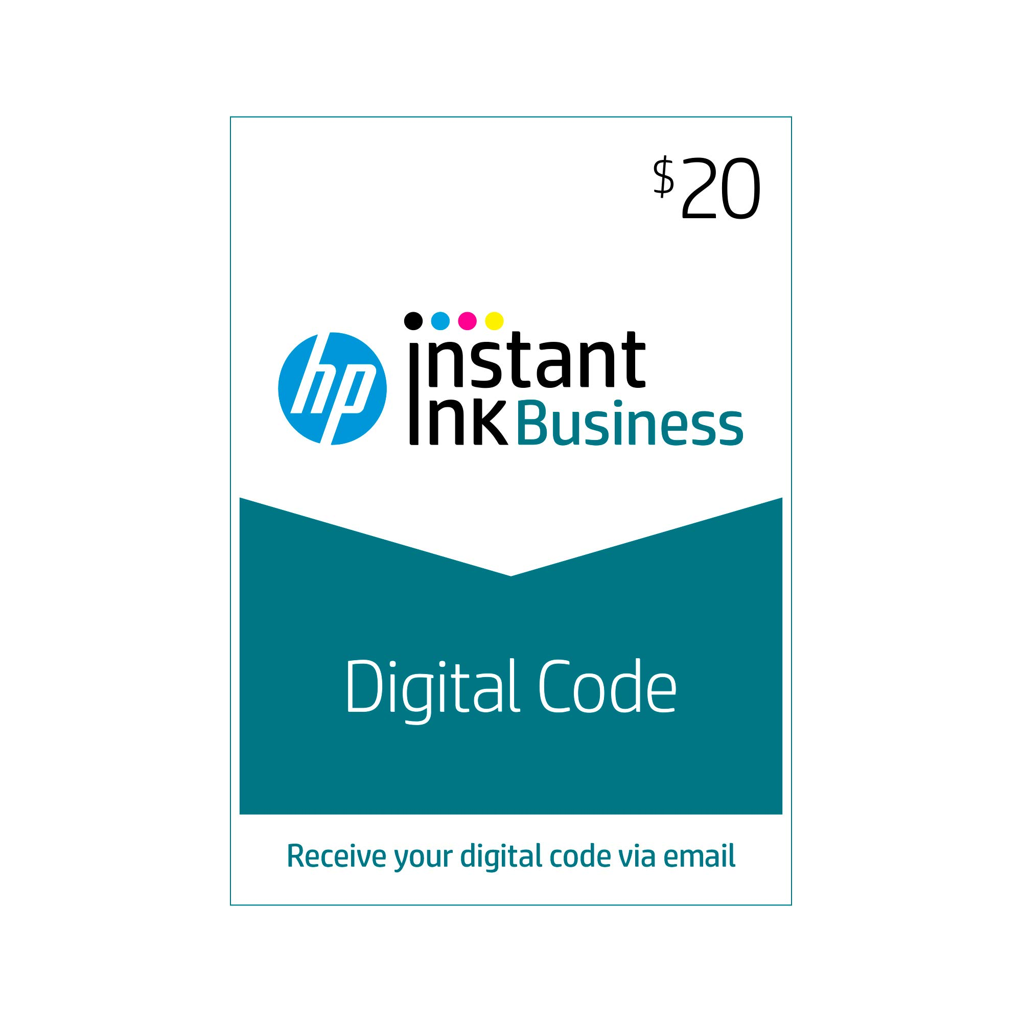 HP Instant Ink Business $20 Prepaid Card, use to enroll in 100, 300, 500 or 700 page plan (3YN94AN) by HP