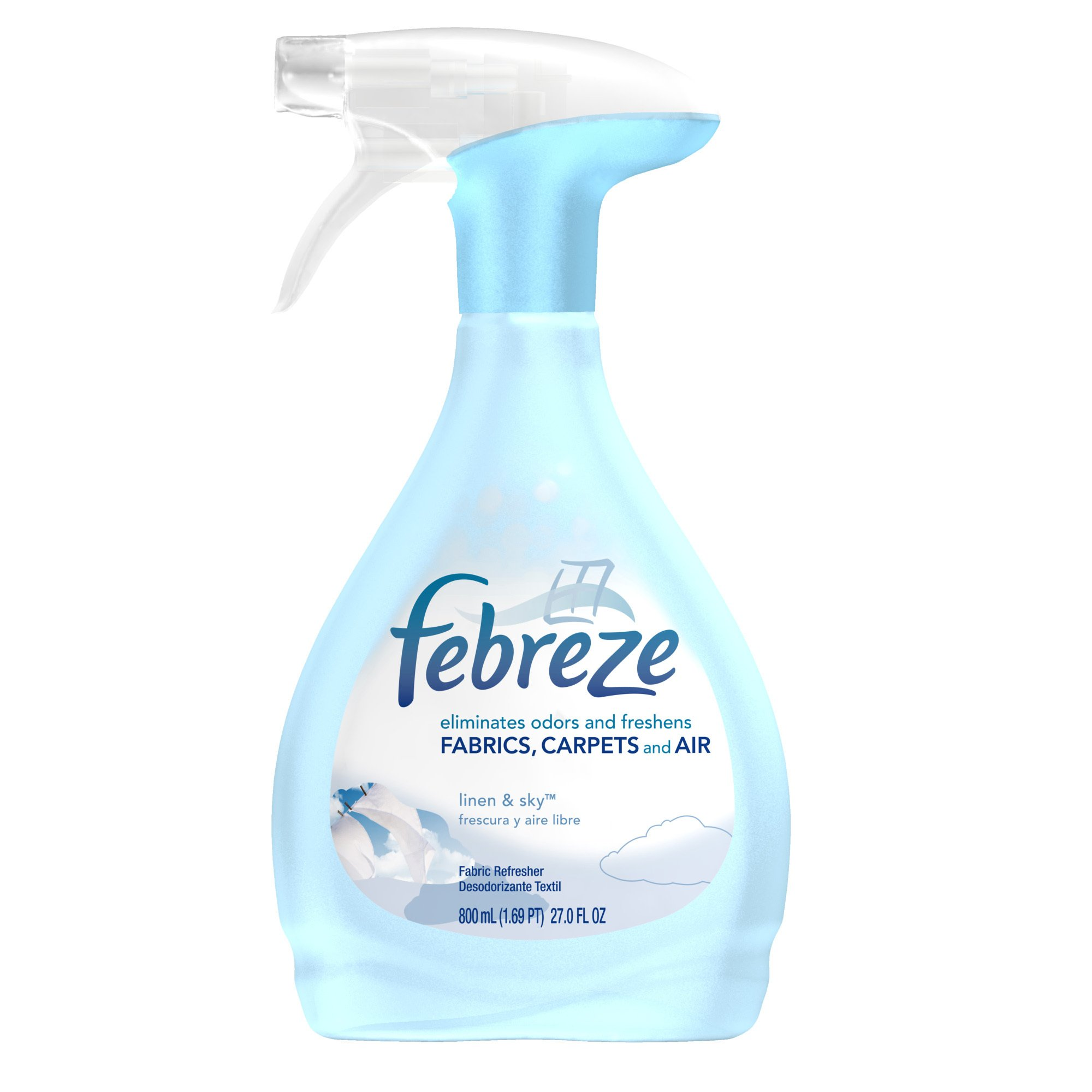 Febreze Linen and Sky Fabric Refresher, 27.0-Ounce (Pack of 9) (Packaging May Vary)