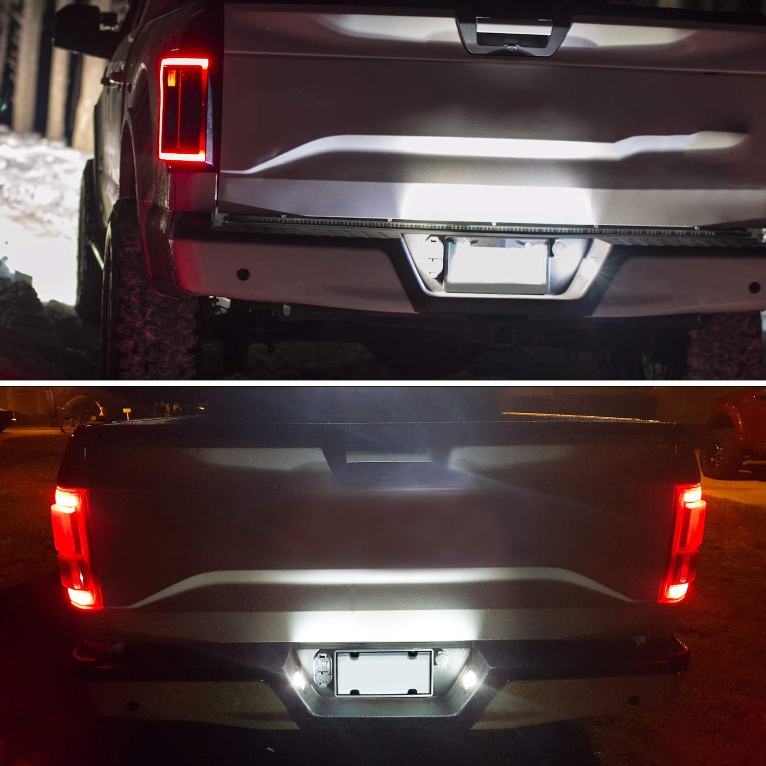 2017 2018 F150 Raptor 6000K White Pack of 2 RUXIFEY LED License Plate Light Lamp Compatible with 2015 to 2018 Ford F150