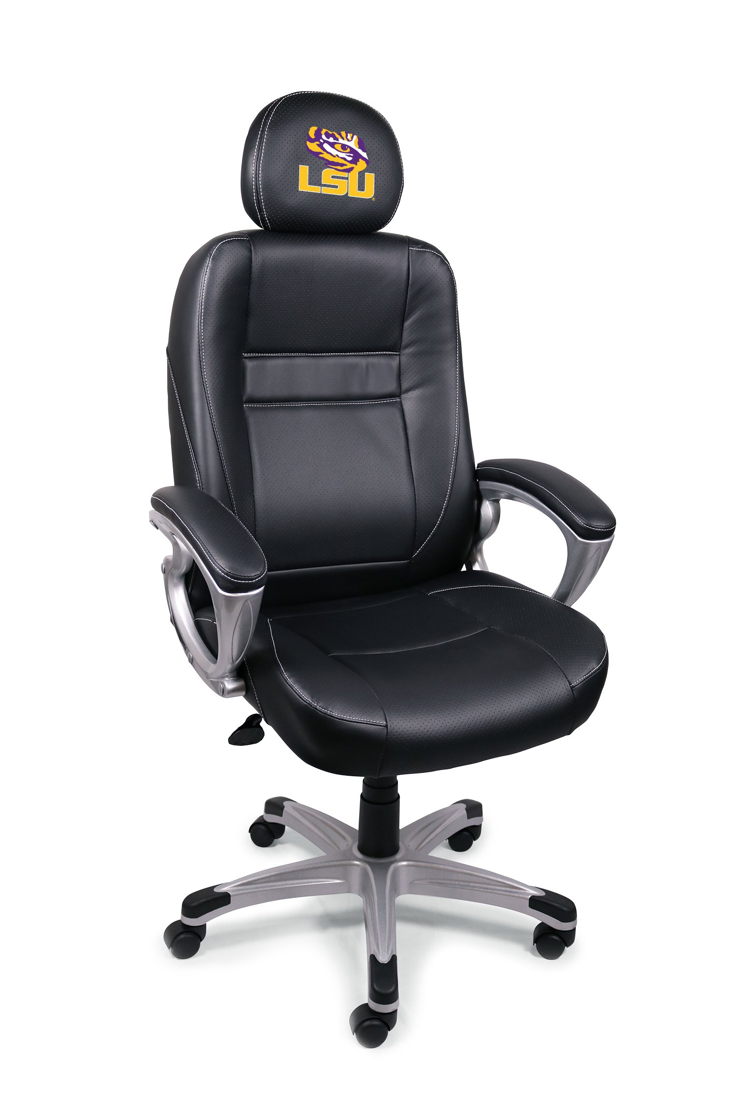 Wild Sports NCAA College LSU Tigers Leather Office Chair