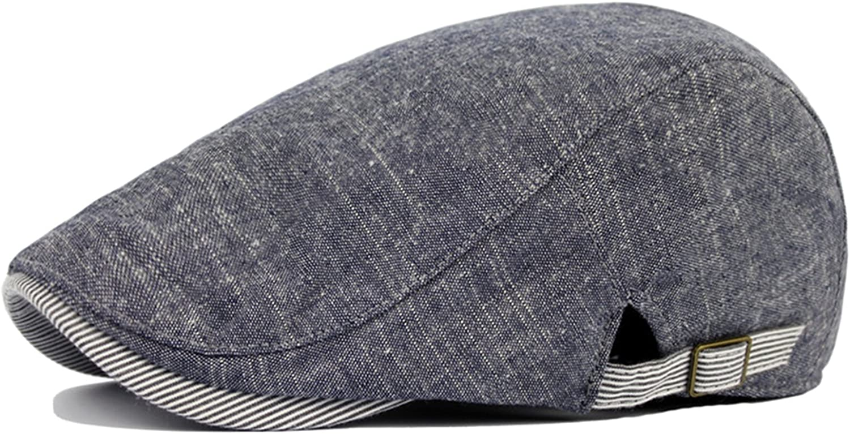 Leisial Sombreros Gorras Boinas Gorra de Béisbol Ocio Retro Clásico del Algodón Gorra de Deport Hat Flat Cap Primavera Otoño Invierno para Hombre