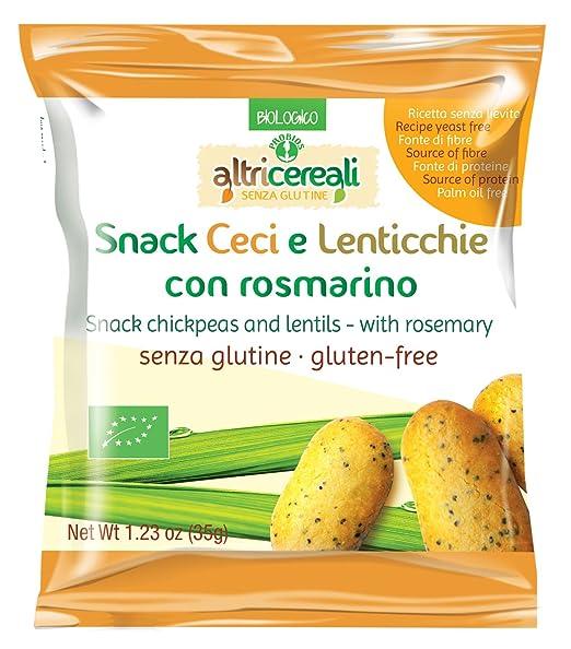 4 opinioni per Probios Snack Ceci e Lenticchie, con Rosmarino- 35 gr
