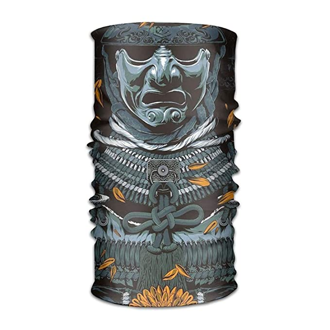 The Ancient Samurai 16-in-1 Magic Scarf,Face Mask,Fishing Mask,Thin Ski  Mask,Neck Warmer Balaclava Bandana for Raves,Dust,Riding