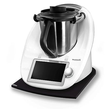 Stone4Slide Tabla Antideslizante Thermomix de Cristal acrílico Negro para Robot de Cocina