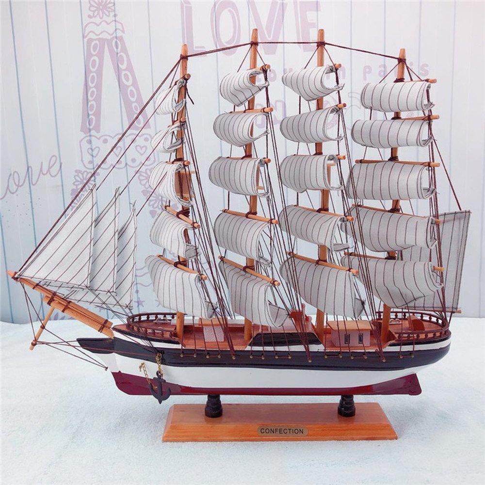BWLZSP 1 PCS Solid wood handmade craft ship smooth sailing model ornaments home decorations holiday gifts AP5181736