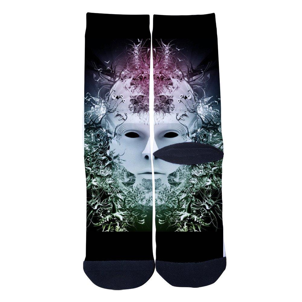 Ysdai custom Spring and winter Abstract portrait Socks Adult Print Crew Socks Knee High Socks