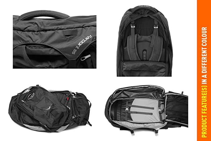 a093846145 Osprey Men s Farpoint 55 Travel Pack  Amazon.co.uk  Sports   Outdoors