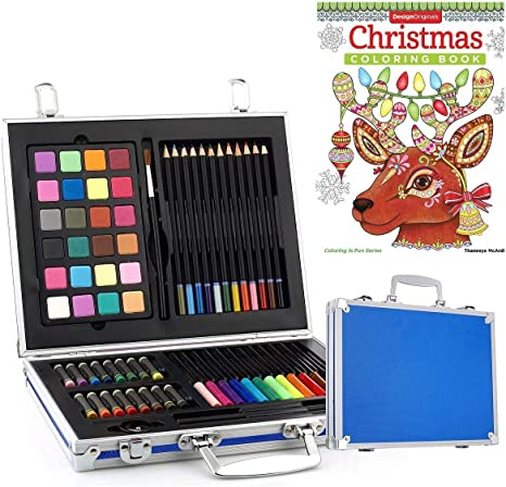 Art Sets Drawing Painting Darice 80 Pcs Deluxe Set Artist Compact Portable Case