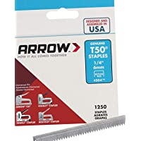 Arrow Fastener 504 Genuine T50 1/4-Inch Staples, 1,250-Pack - 1