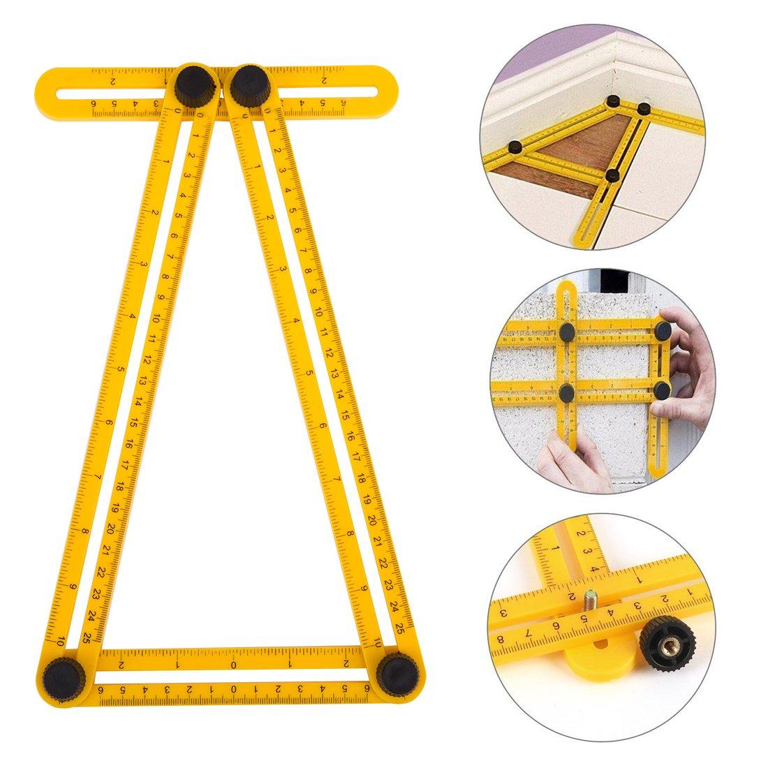 Handsaws Set, Four Fold Ruler, Multifunction Bow Saw +Angle Measuring Ruler for Engineer Handymen Builders Craftsmen by SILIVN by SILIVN (Image #4)