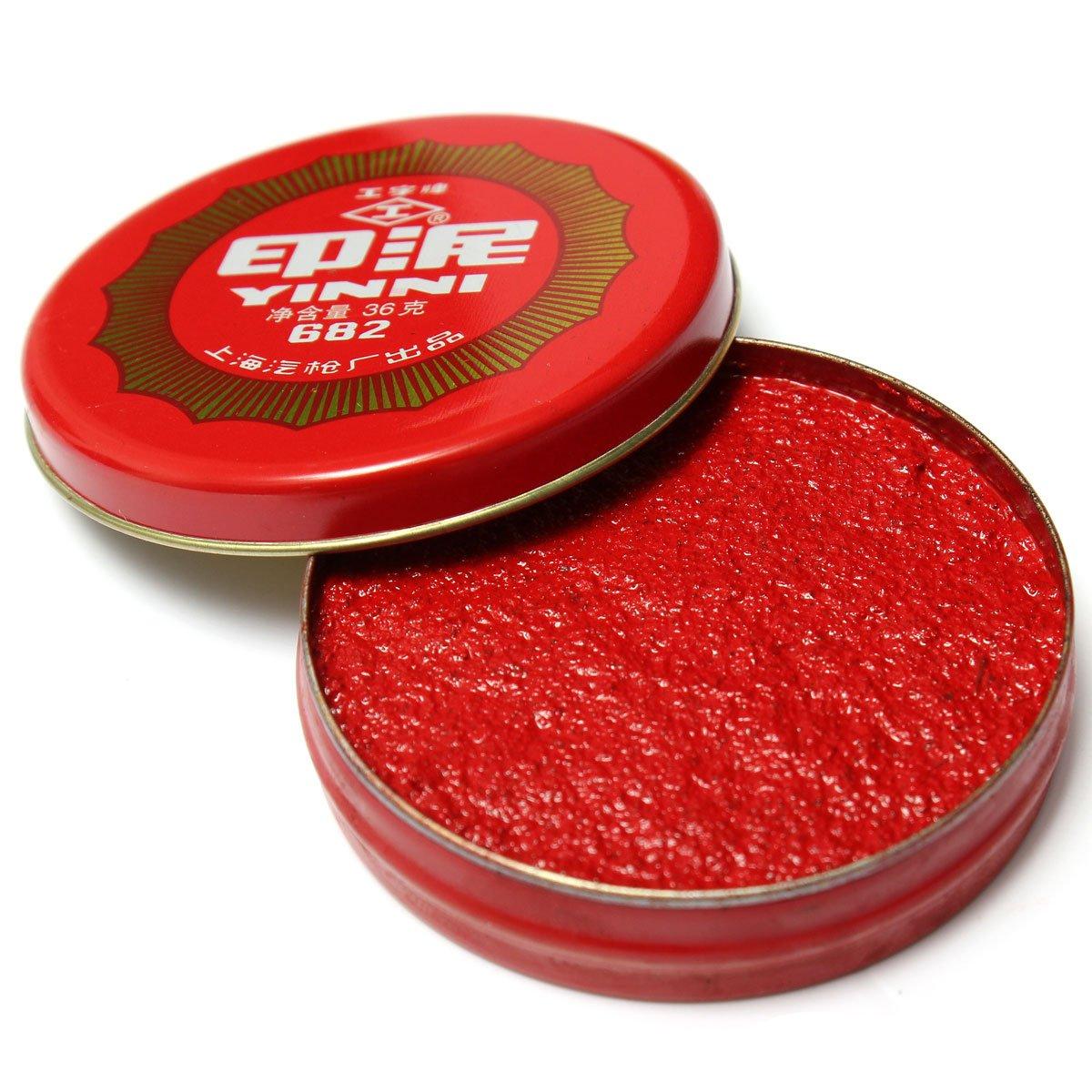 PANGUN Encre De Calligraphie Peinture Rouge Coller Le Tampon Circulaire De Frankie Chinois Nouveau 36G
