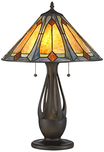 Yolic Tiffany Style Glass Table Lamp 9-inch NCAA Alabama Crimson Tide Alphabet A Stained Glass Table Lamp