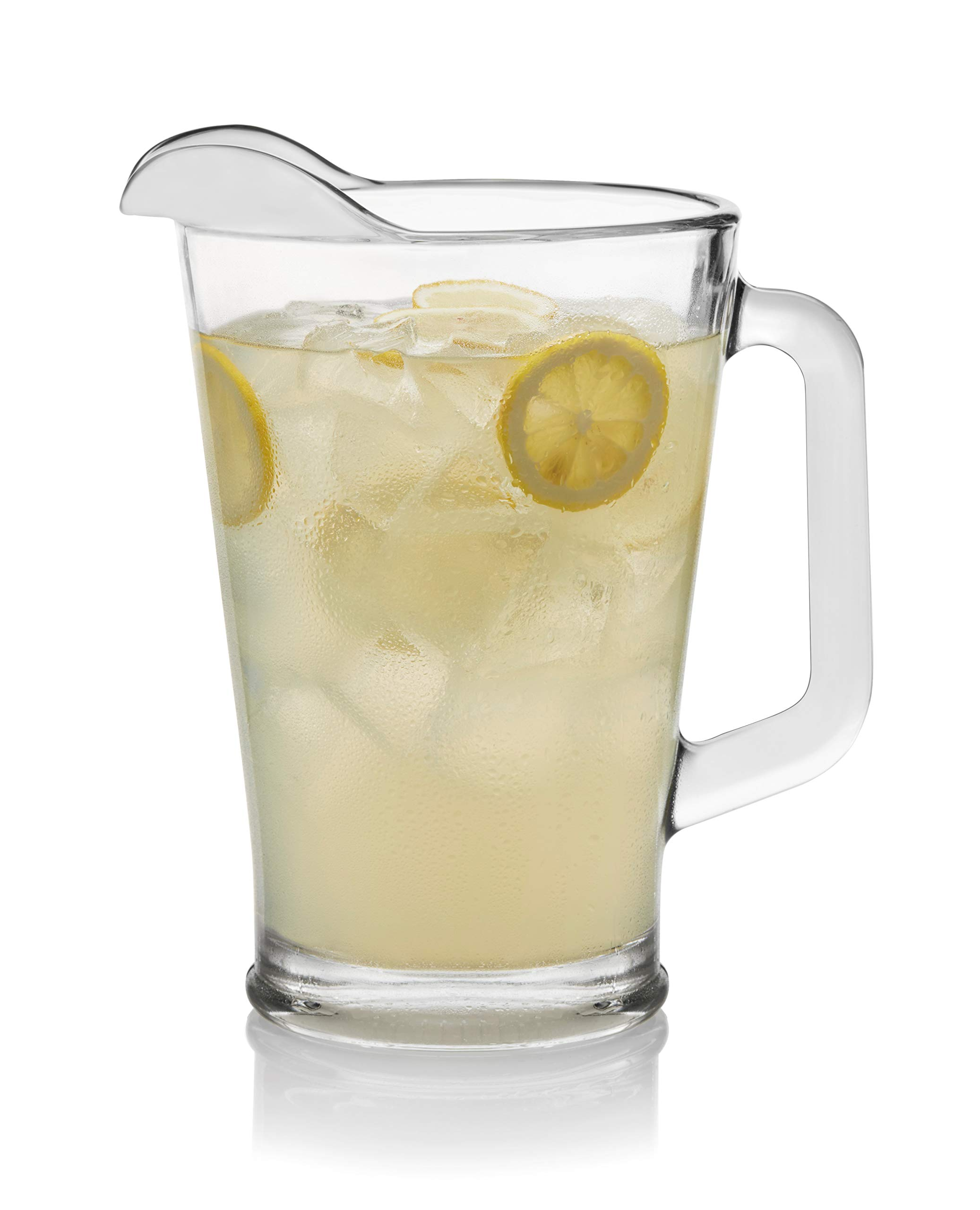 Libbey 5260 1-60 Ounce Glass Serveware Pitcher, 9.23 Inch Height, Lead-Fre 1 Free, 60 oz, Clear