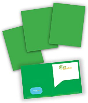 2 Pocket Poly // Plastic Folder 3 HOLE PUNCHED MULTI C New Generation 6 PACK