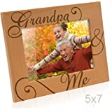 Kate Posh Grandpa and Me Engraved Natural Wood Picture Frame, I Love You Grandpa,