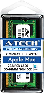 A-Tech for Apple 2GB DDR3 1067MHz / 1066MHz PC3-8500 SODIMM Late 2008, Early/Mid/Late 2009, Mid 2010 - MacBook, MacBook Pro, iMac, Mac Mini Memory RAM Upgrade Module
