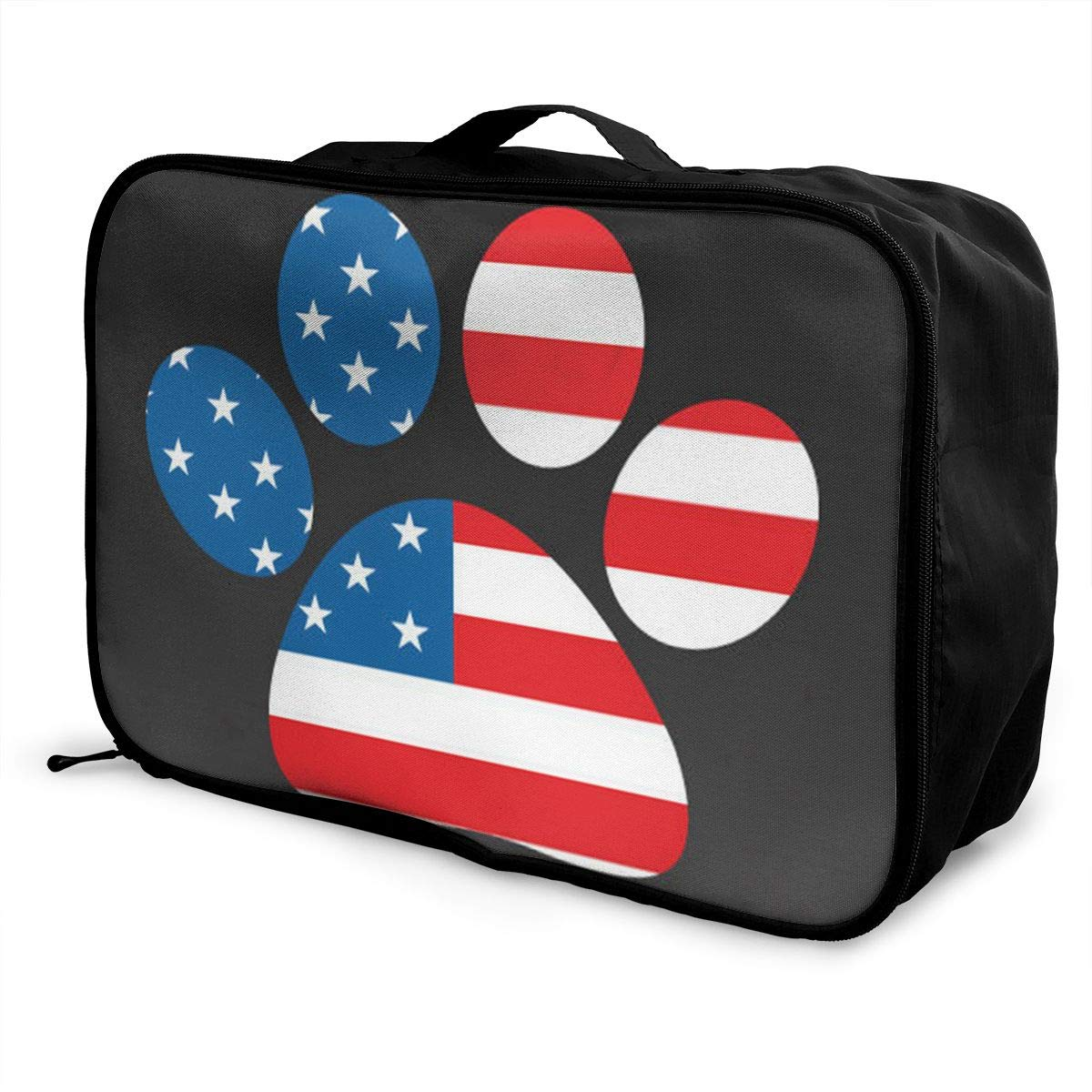 Travel Luggage Duffle Bag Lightweight Portable Handbag American Flag Large Capacity Waterproof Foldable Storage Tote