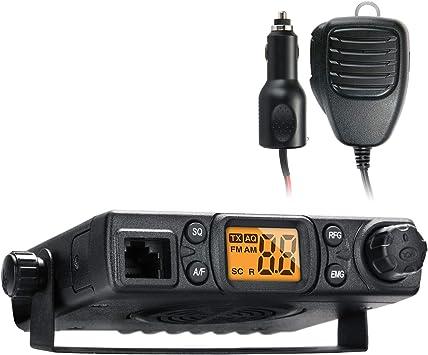 Radioddity CB-27, Radio CB Communication Am/FM Multi-Modo, Multi-estandar con Soportes de Montaje y Cargador de Coche