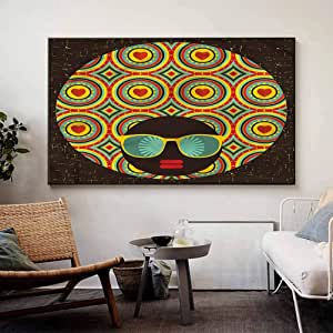 Amazon.com: homecoco Modern Wall Sticker Glam Afro Hair ...