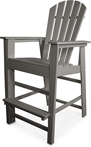 POLYWOOD SBD30GY South Beach Bar Chair, Slate Grey