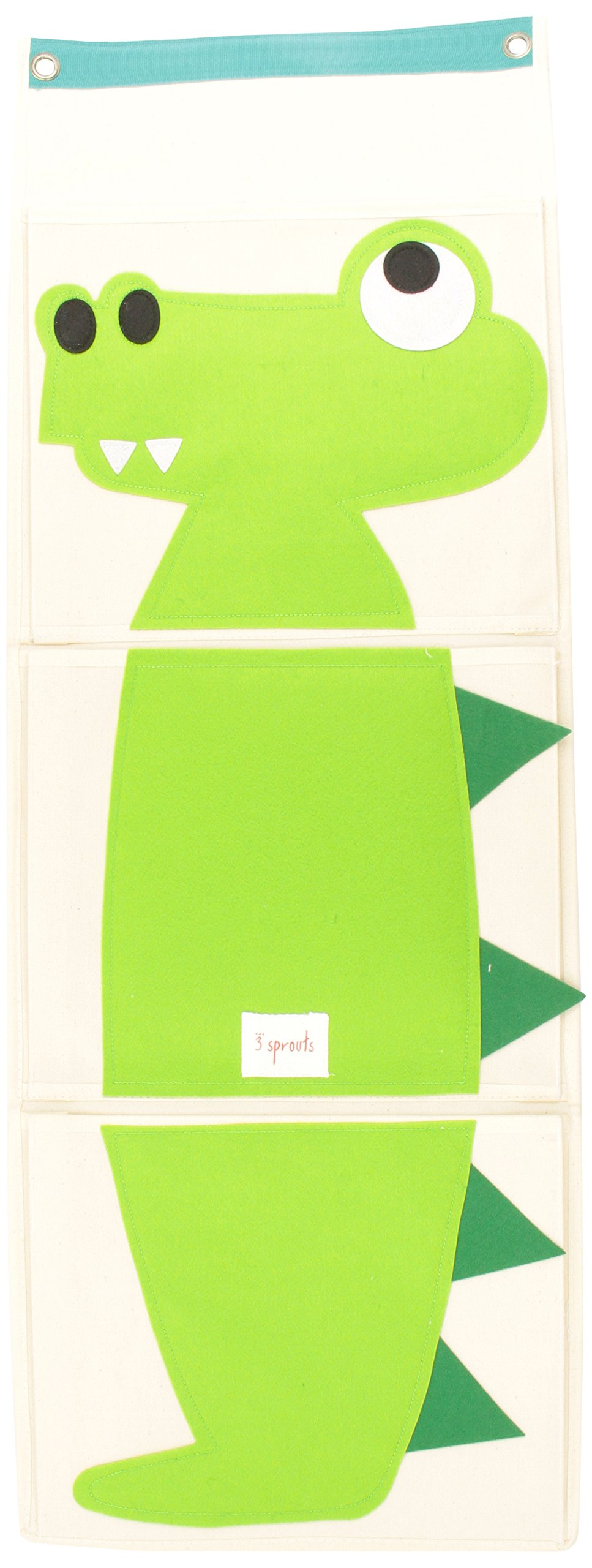 3 Sprouts Wall Organizer, Crocodile by 3 Sprouts