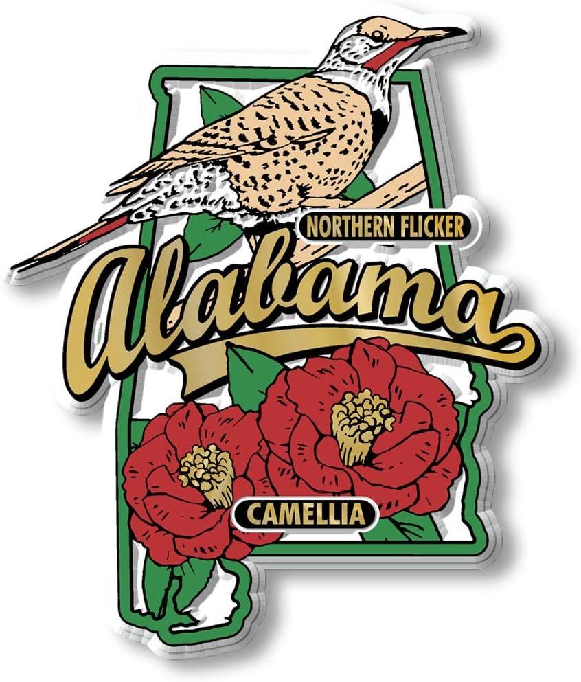 Amazon Com Alabama State Bird Flower Magnet Kitchen Dining