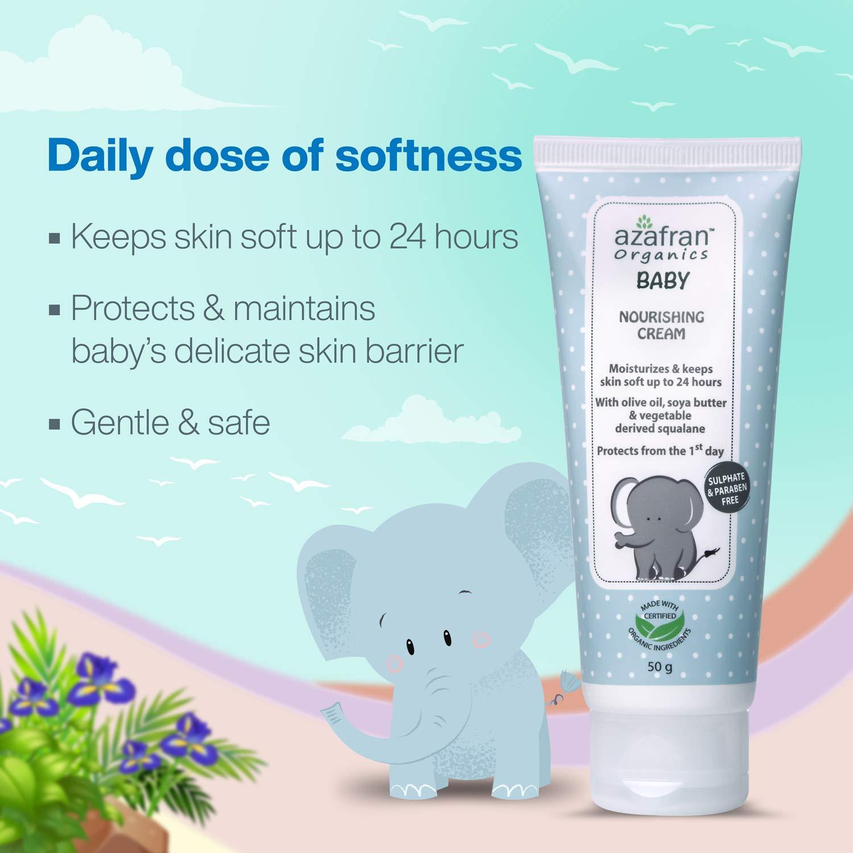 Azafran Organics Baby Nourishing Cream, 100g