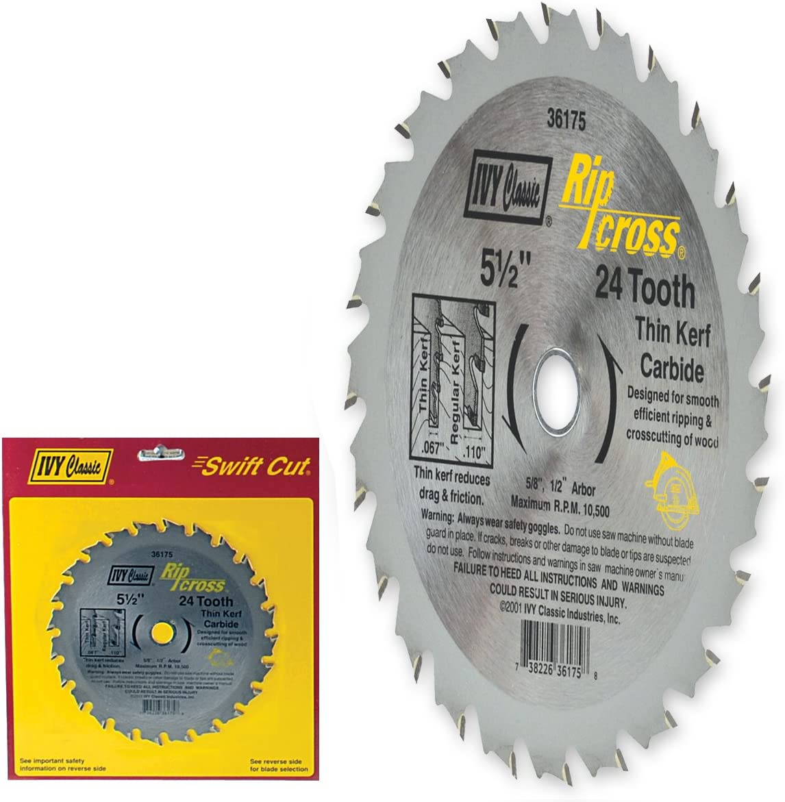 Oshlun SBW-055036 5-1//2-Inch 36 Tooth ATB Finishing and Trimming Saw Blade with