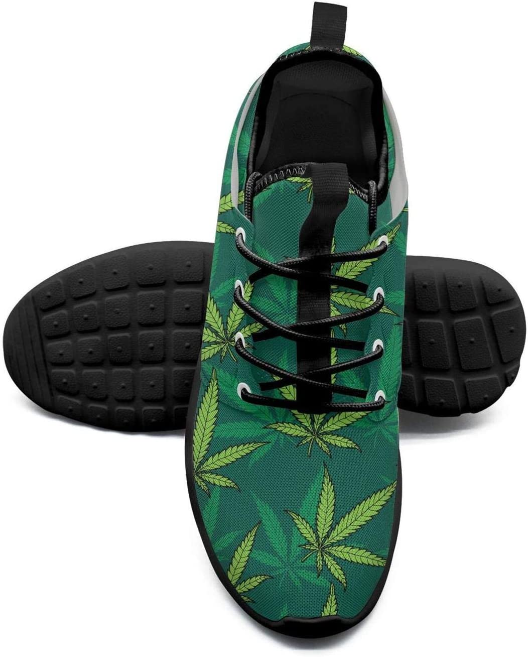 Wedco Cannabis History Leaves Male Sneakers Shoes for Mens Skid-Proof Comfortable