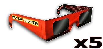 Gafas de Eclipse Solar (Paquete de 5)